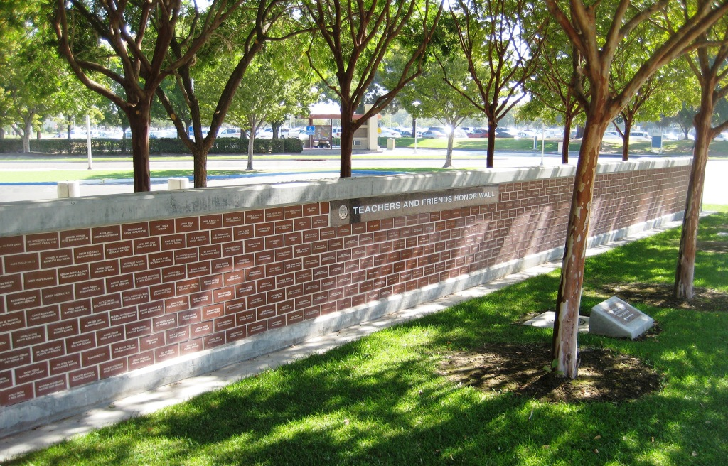 Teachers and Friends of Education Honor Wall at Fresno State