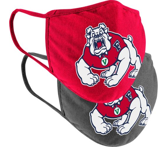 Fresno State face mask/covering.